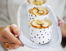 Bratapfelküchlein mit Vanillecreme
