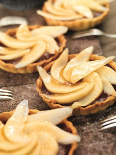 Birnen-Tartelettes mit Schokolade