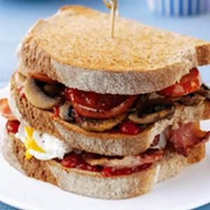 Triple breakfast stack