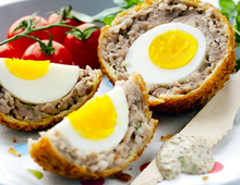 Paul Merrett's Scotch Eggs with Grainy Mustard Mayo