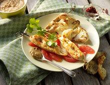 Thai-Hähnchenspiesse mit Erdnusssauce