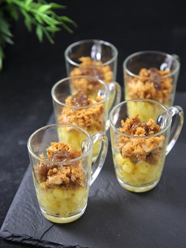 Verrine foie gras pommes et pain d épices