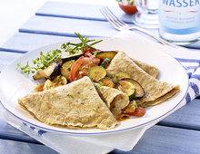 Pfannkuchen mit Ratatouille (vegetarisch)