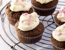 Schokocupcake mit Vanillefrosting
