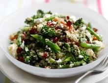 Quinoa salad with feta and pomegranate