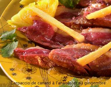Duck with pineapple and ginger