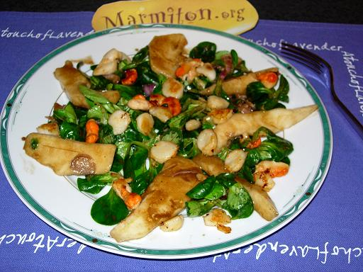 Salade de Saint Jacques aux poires