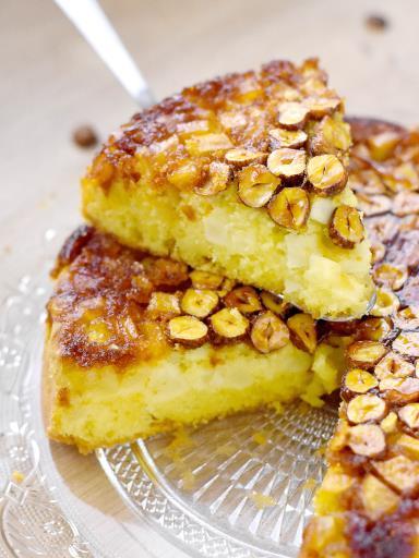 Recipe Apple and Hazelnut Upside Down Cake