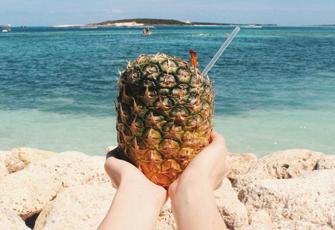 Ananas und Meer