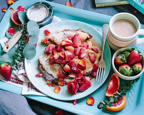 Valentinstags-Frühstück