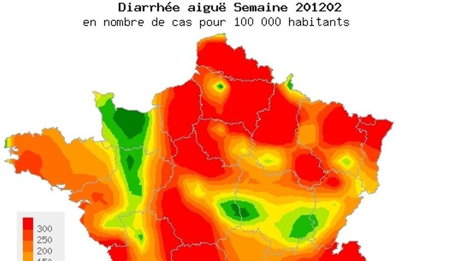 Gastro : L'épidémie a atteint son pic en France métropolitaine