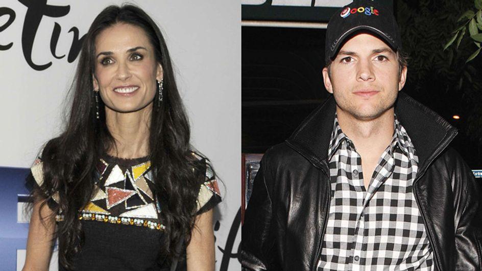 """Demi Moore : Des retrouvailles """"normales"""" avec Ashton Kutcher"""
