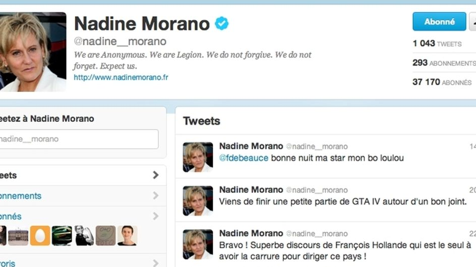 Megaupload : Anonymous pirate le Twitter de Nadine Morano