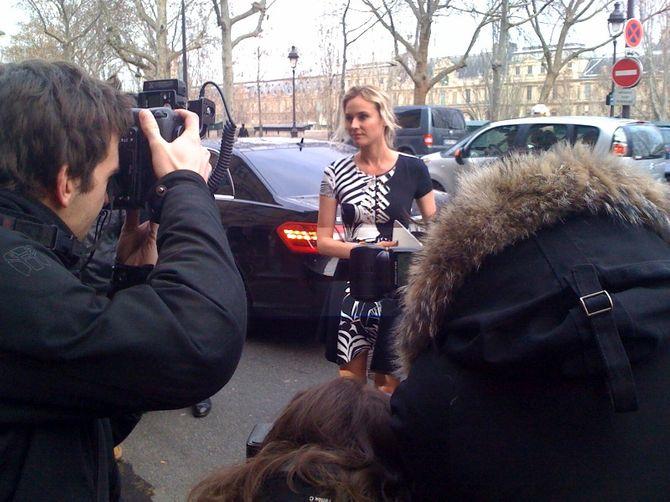 Diane Kruger au défilé Versace printemps été 2012