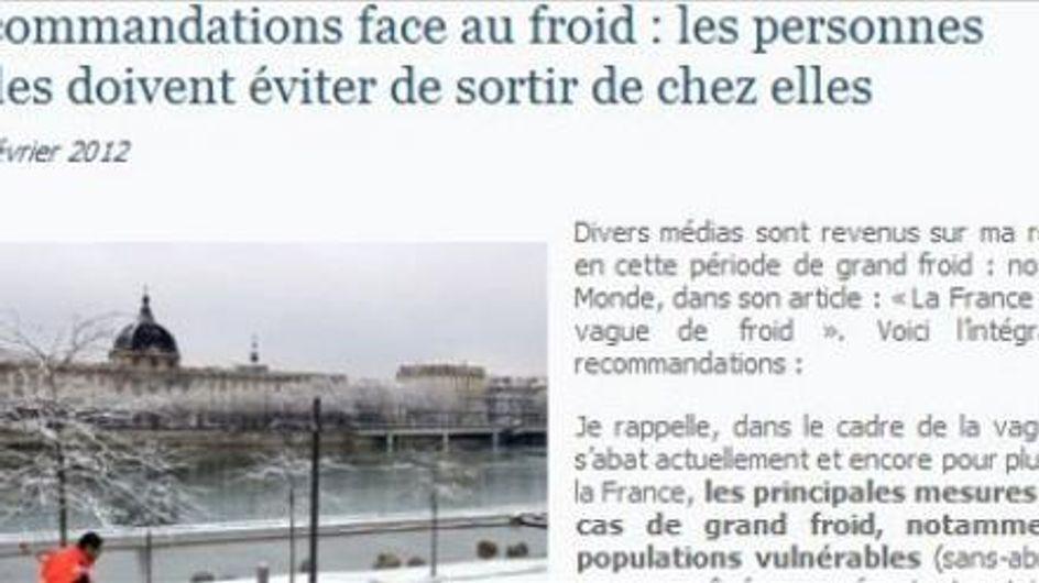 Froid : Quand Nora Berra recommande aux SDF de rester chez eux