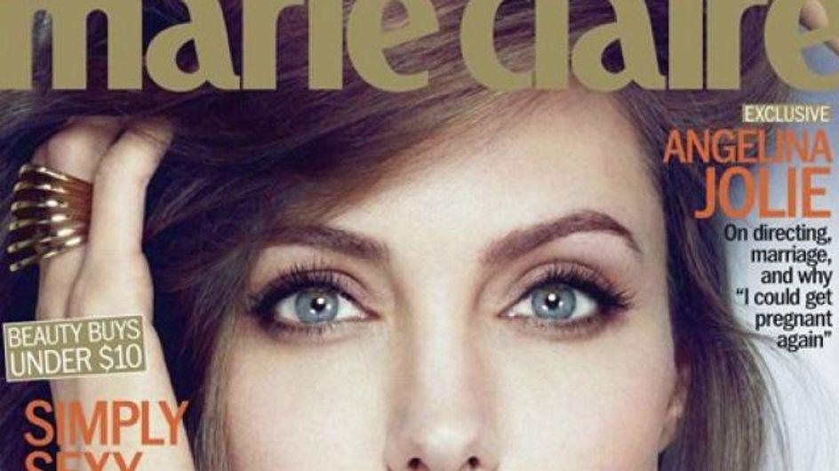 Angelina Jolie : Rayonnante en couverture de Marie Claire (Photos)