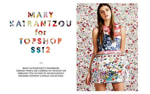Mary  Katrantzou pour Topshop