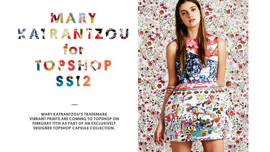 Topshop : La collection fleurie de Mary Katrantzou
