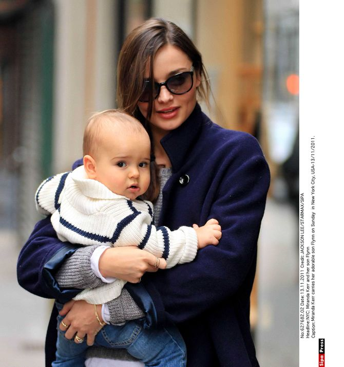 Miranda Kerr et le petit Flynn