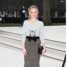 Kate Bosworth : Son look canon au défilé Burberry
