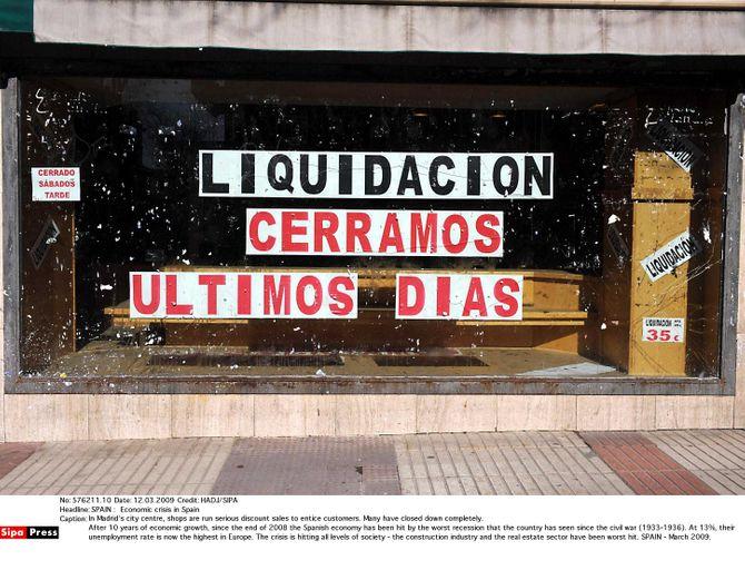 Taux de chômage espagnol
