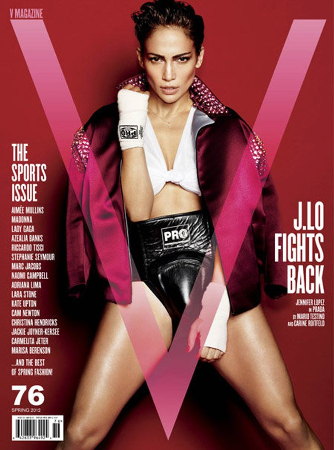 Jennifer  Lopez, boxeur, V magazine, shooting, photos