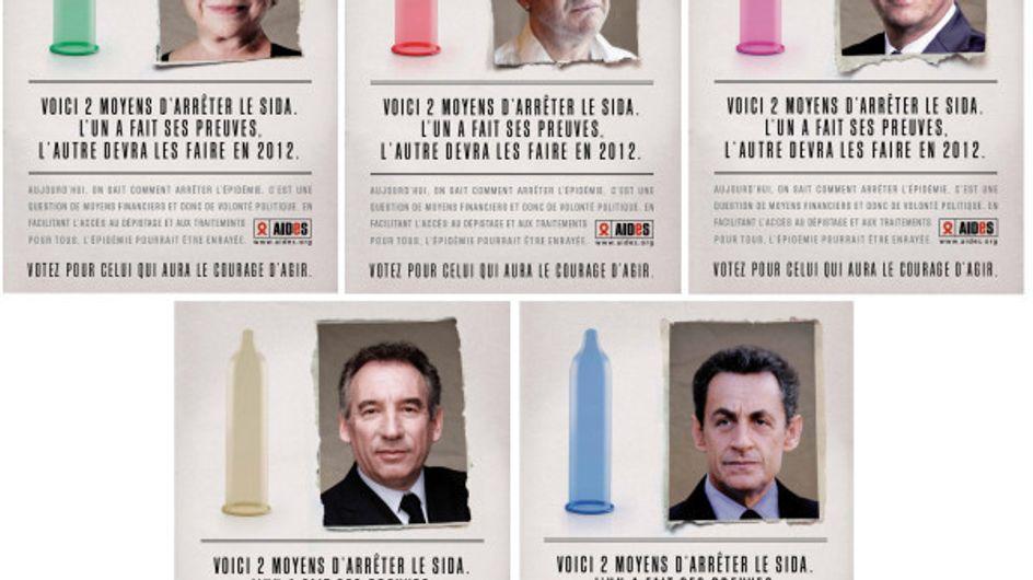 Présidentielle 2012 : Des préservatifs aux couleurs des candidats !