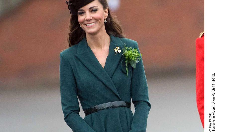 Kate Middleton : Stylée et en vert pour la St Patrick ! (Photos)