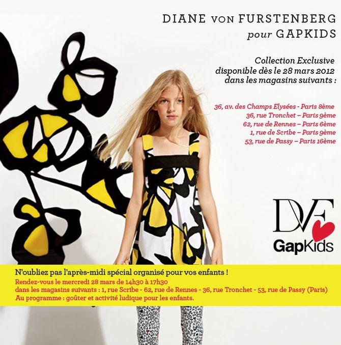 Diane Von Furstenberg pour Gap Kids