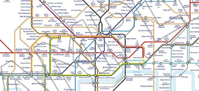 Londres 2012 métro plan