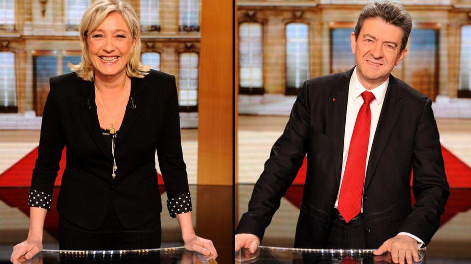 Présidentielle 2012 : Marine Le Pen talonnée par Jean-Luc Mélenchon