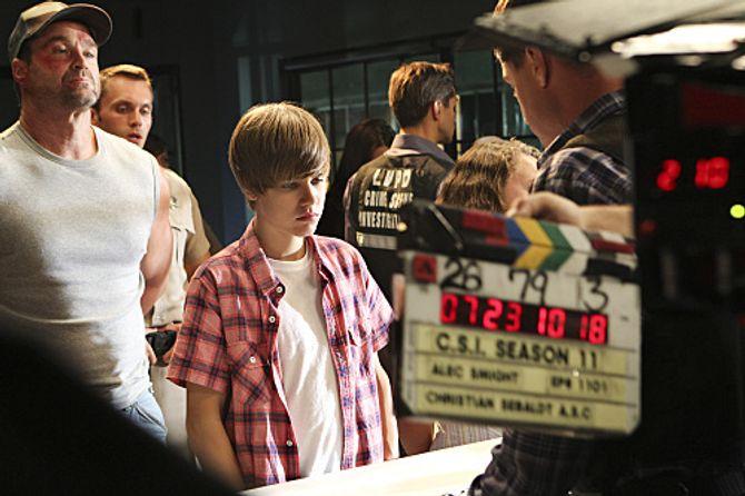 Justin Bieber Les Experts tournage