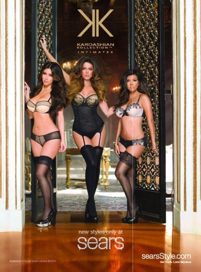 Kim Kardashian Khloé Kardashian Kourtney Kardashian lingerie