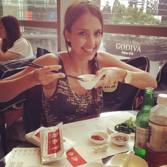 Jessica Alba, vacances, Shanghai