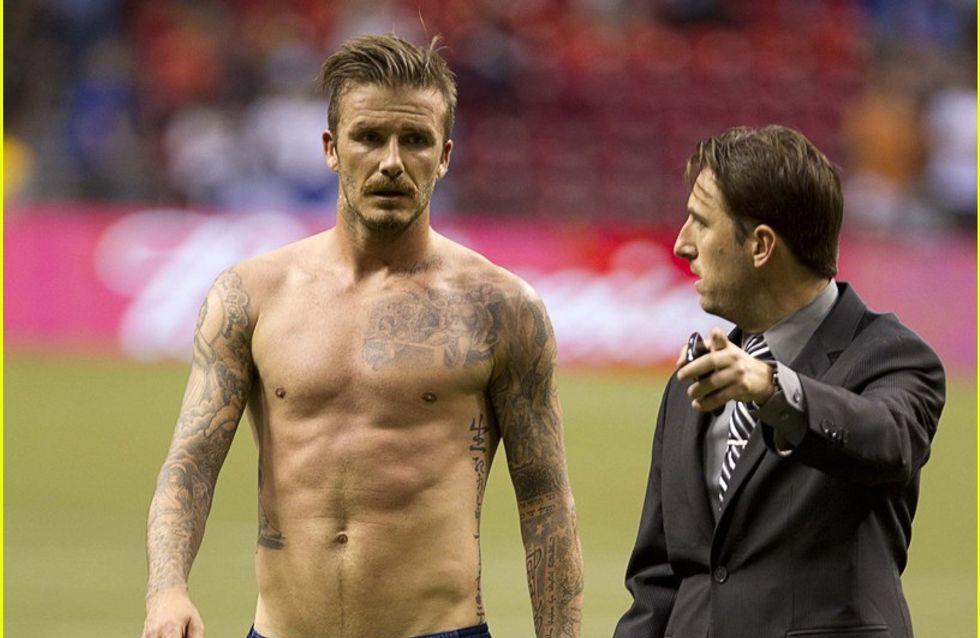 David Beckham : Torse nu, juste pour le plaisir des yeux (Photos)
