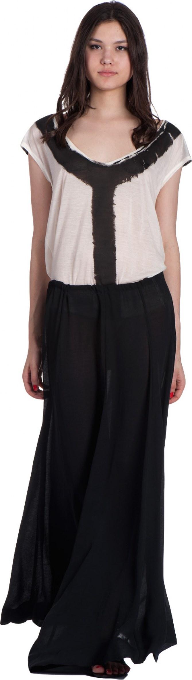 tenue victoria beckham jupe longue noire