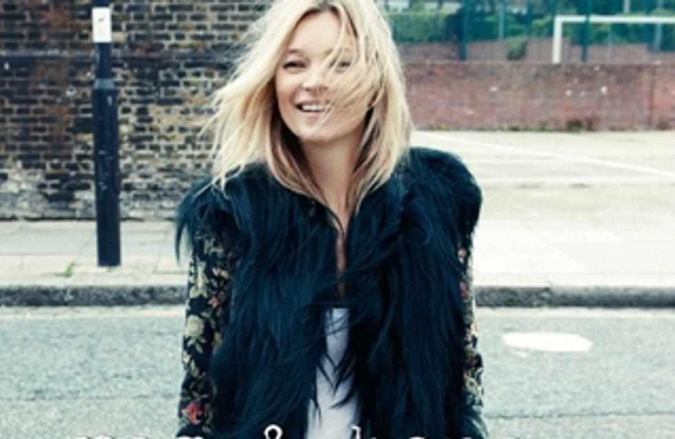 Kate Moss : Sexy dans les rues de Londres pour Rag & Bone (Photos)