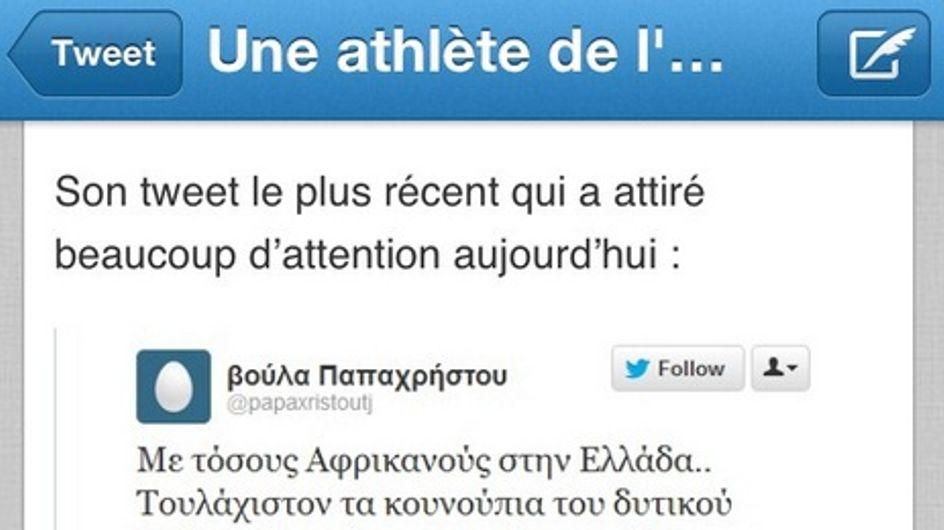 JO : Une athlète grecque exclue pour tweet raciste