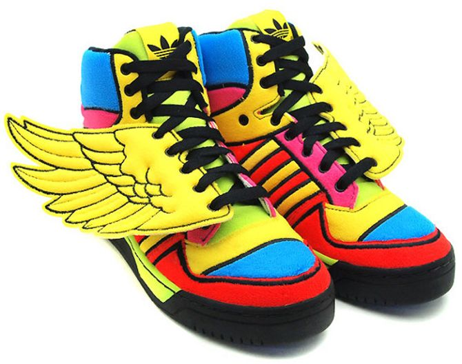 Adidas X Jeremy Scott baskets régressives