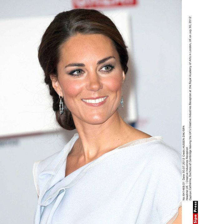 Kate Middleton Middleton, royale académie des arts,, robe grise