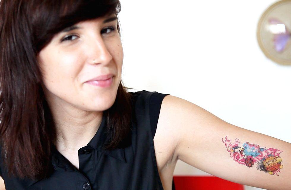Tatouage sticker : La beauté selon Caro ! (Vidéo)
