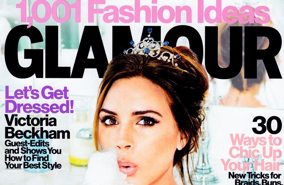 Victoria Beckham : Sexy dans son bain pour le magazine Glamour (Photos)
