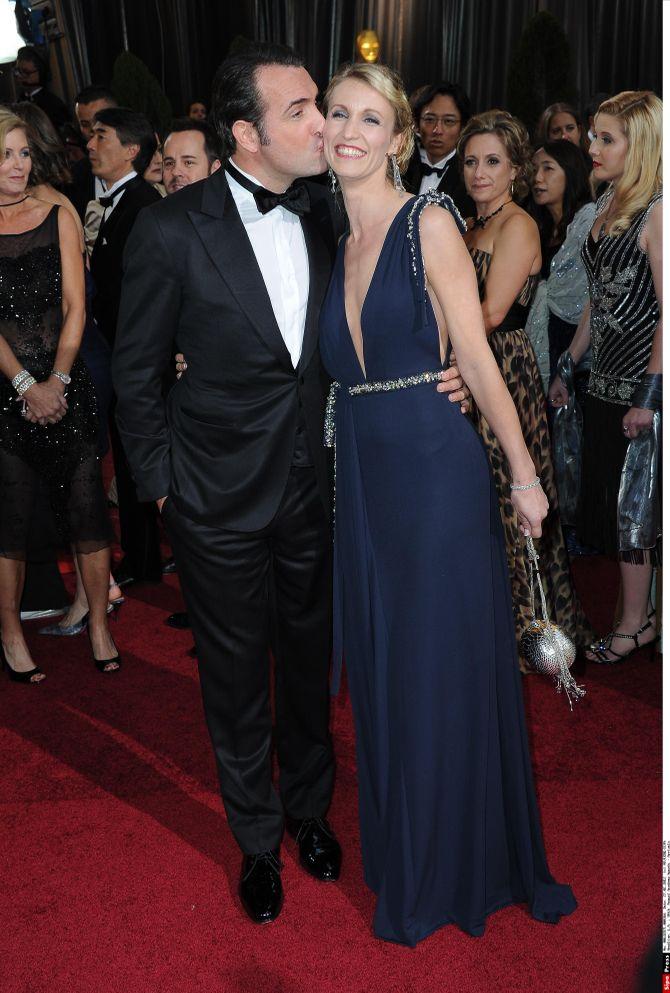 Jean Dujardin Alexandra Lamy Oscars 2012