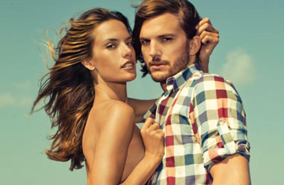 Ashton Kutcher : Ses photos hot avec Alessandra Ambrosio pour Colcci