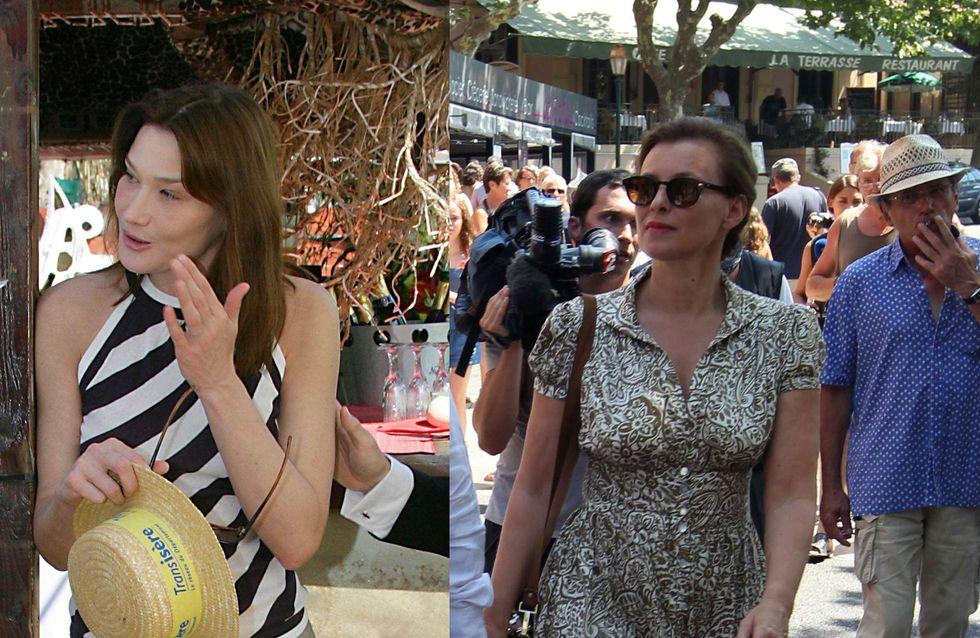 Valérie Trierweiler VS Carla Bruni : Qui est la plus stylée en vacances ? (Photos)
