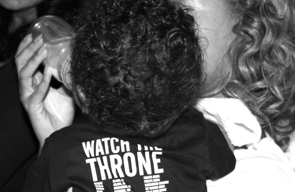 Blue Ivy : 7 mois et déjà ultra fan de son papa (Photos)
