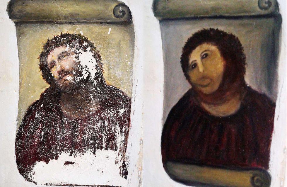 Insolite : Une peinture restaurée... et massacrée ! (Photos)
