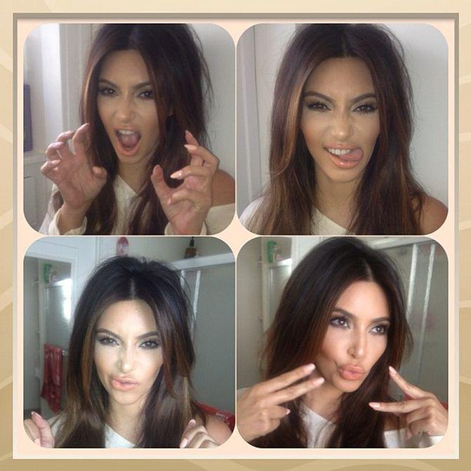 Kim Kardashian , grimaces, Twitter