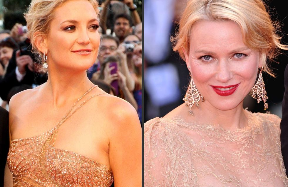 Kate Hudson Vs Naomi Watts : Qui porte le mieux la robe nude ? (Photos)