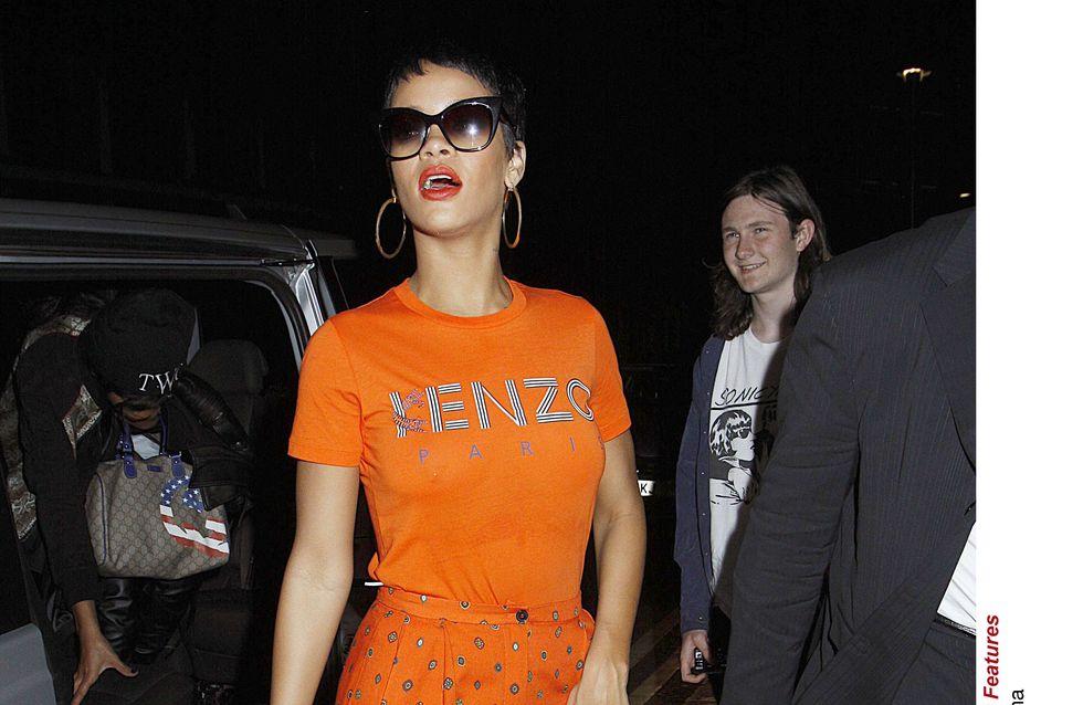 Rihanna : Son look cool en Kenzo (Photos)